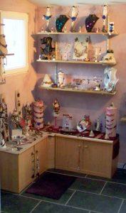 Atelier, Show room, artisanat d'art. lieu de création et de vente/photo croque couleur